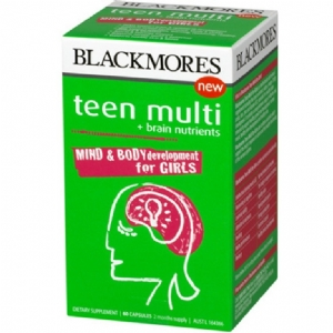 Blackmores Teen Multi + Brain Nutrients for Girls 60 Capsules Vitamin tổng hợp dành cho lứa tuối Teen