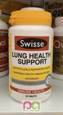 LUNG HEALTH SUPPORT (90v) SWISSE - Thuốc bổ phổi