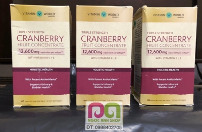 Triple Strength Cranberry Fruit Concentrate 12600 mg