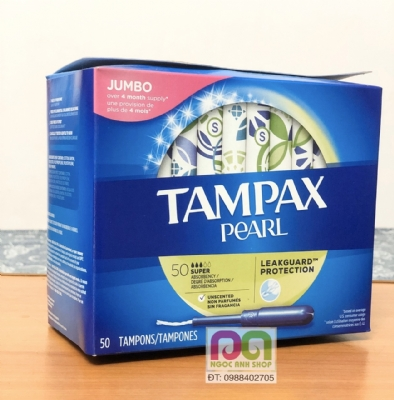 TAMPAX PEARL SUPER 50 CHIẾC