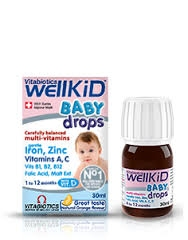 Vitamin Vitabiotics 30ml Well Kid Baby Drops dạng giọt